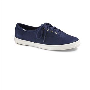 Keds Champion Washed Metallic Twin Blue Low-Top